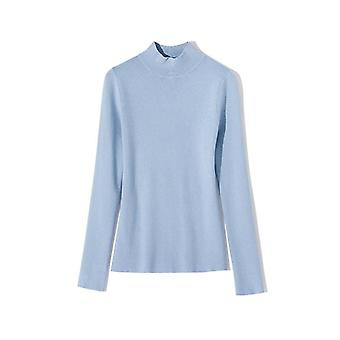 Women Autumn Winter Solid Knitted Long Sleeve, Turtleneck Sweaters