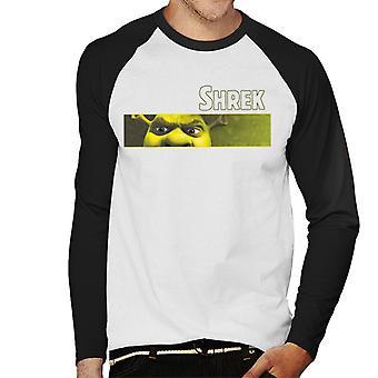 Shrek Close Up Shot Mænd's Baseball langærmet T-shirt