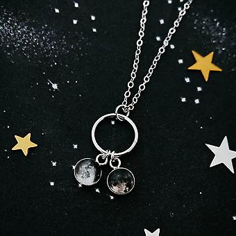 My Moon Small Circle Of Life Family Necklace