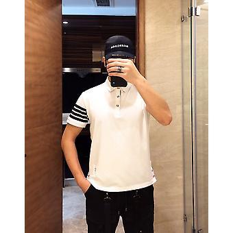 Top Sommer Solid Mænd Polo Shirt, Kortærmet Bomuld Outwear Tøj, Trøjer
