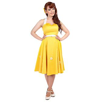 Collectif Vintage Women's 1950's Daisy Swing Dress
