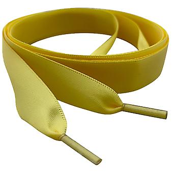 Lemon Yellow Satin Ribbon Shoelaces Laces