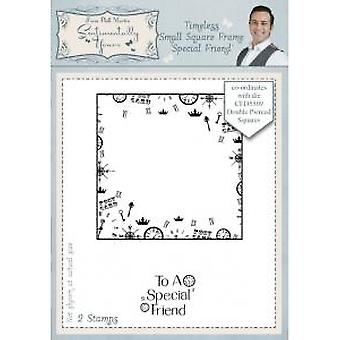Sentimentally Yours Timeless Small Square Frame Special Friend Pre Cut Stamp Set 2