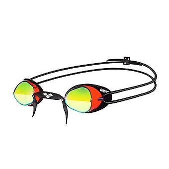 Arena Swedix Mirror Swim Goggle - Yellow Lens - Red/Black Frame