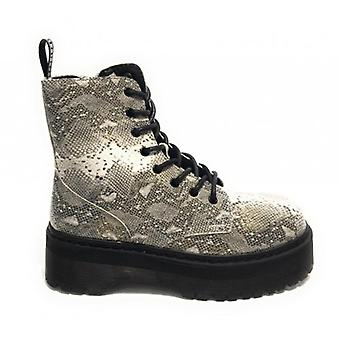 Women's Shoes Gold&gold Amphibian Ecopelle Python Print With Tank Wedge Bottom D20gg51