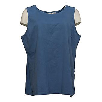 Joan Rivers Classics Collectie Dames Top Stretch Tank Blauw A295141