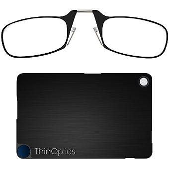 ThinOptics Armless Ultralight Reading Glasses w/ FlashCard Case - Black