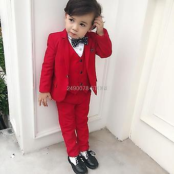 Jongens Bloem Formele Bruiloft Party Suit