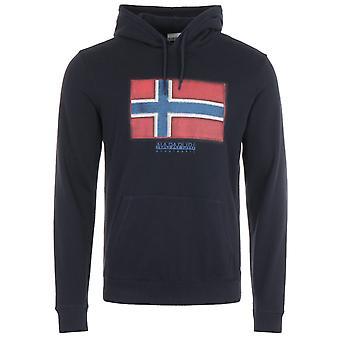 Napapijri Birol Organic Cotton Hooded Sweatshirt - Blue Marine