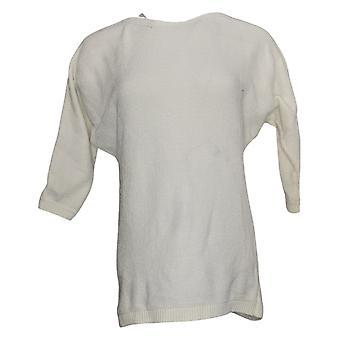 Women W/ Control Women's Sweater Dolman-Sleeve Chenille White A390209