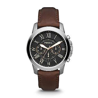 Fossil Grant Leather chronograph menns se FS4813IE