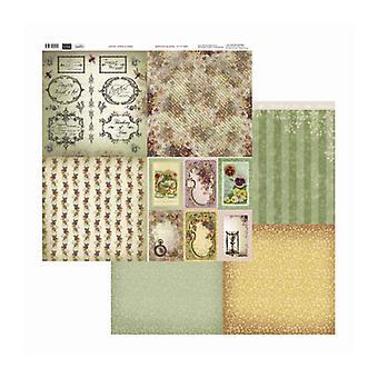 Couture Creations - Journaling Pansies 12x12 tum Dubbelsidiga förpackningar med 10 ark