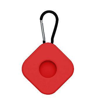 2Pcs pour airtags cas protecteur anti perdu porte-clés carré rouge