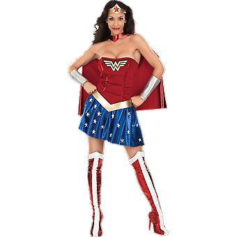 Sexy Wonder Woman Super Hero Fancy Dress Costume