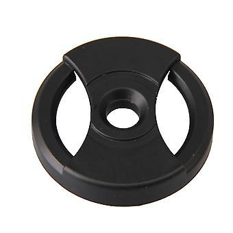 7 tommer sort plast vinylplade midterhulsadapter 45RPM 38x7.2x7mm
