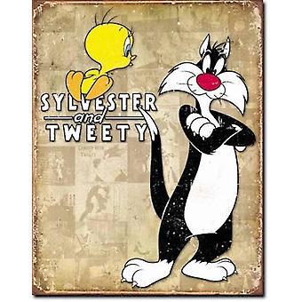 Sylvester & tweetie retro-tin-merkki
