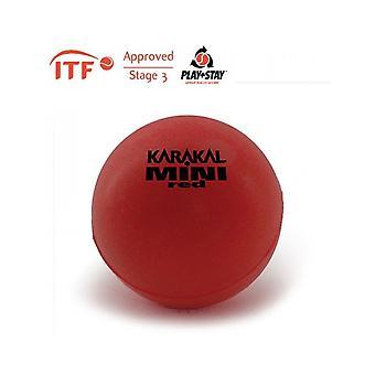 Karakal ميني رغوة الأحمر كرة التنس ITF وافق 90mm كرات كاتب - 1 دزينة