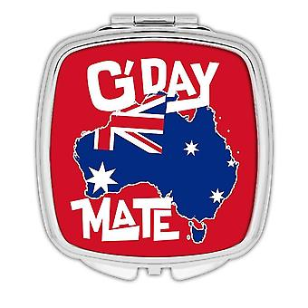 Gift Compact Mirror: AUSTRALIA Map Australian