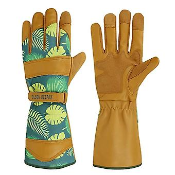 Gardening Gloves With Grain Leather For Yard Work,rose Pruning And Daily Work