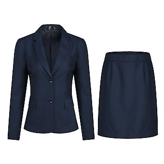 YANGFAN Women's Formal Two Button Blazer Skirt Suit Set