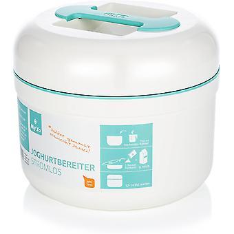 Wokex - Joghurtbereiter ohne Strom   Farbe Mint   Frühstücksbuffet. 2 Beutel Bio-Fermente