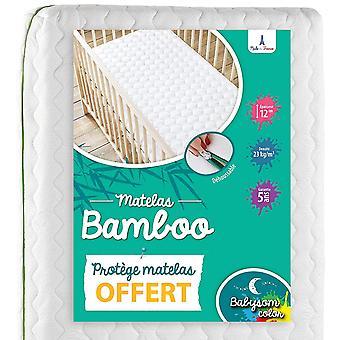 FengChun - Bambus Babymatratze| Kindermatratze + wasserdicht Matratzenschoner GESCHENKT - 70x140cm -