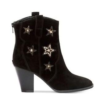 INC International Concepts Womens Dazzlerr Leather Almond Toe Ankle Cowboy Boots