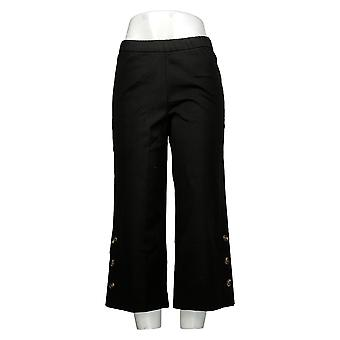 Isaac Mizrahi En direct! Pantalon femme Petite Stretch Culotte Noir A375761