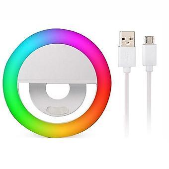 Led Selfie Ringlicht für Handy portable Rgb bunte Blitzlampen Lichter