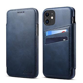 Slot per carte custodia in pelle portafoglio per iphonexr blu pc174