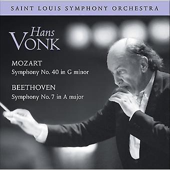 Mozart/Beethoven - Mozart: Symphony No. 40 in G Minor; Beethoven: Symphony No. 7 in a Major [CD] USA import
