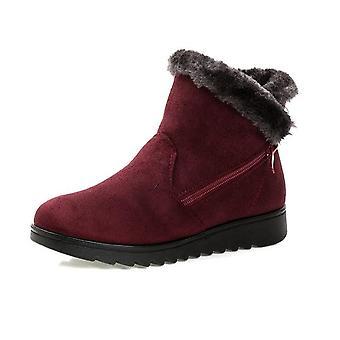 New Fashion Waterproof Wedge Platform Winter Warm Snow Boots