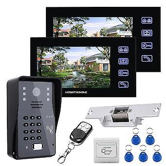 """7""""ЖК-пароль RFID видео домофон домофон система внутренней связи"""