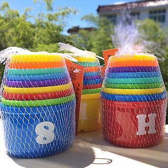 Toddler Stack & Nest Plastic Cups Rainbow Stacking Tower Figures Letters