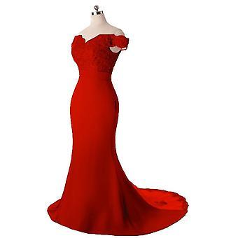 Robe de mariée de fête, Hot V-neck Off Épaule Robe de demoiselle d'honneur