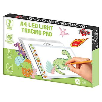 Doodle A4 Ultra-Thin Portable LED Tracing Pad with USB Cable - Dinosaur