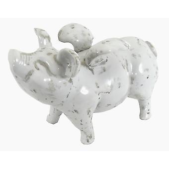 Stor keramisk flygende gris, 32cm
