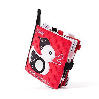 3d Bébé Blanc et Noir Rouge Tissu Visuel Livre