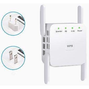 Propulsor de sinal de antena,2.4 5G Repetidor de extensão sem fio de banda dupla 1200M WiFi Booster