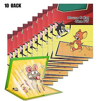 Mouse Traps Glue, Mice Traps Sticky Boards, Strongly Adhesive, 10 Pack