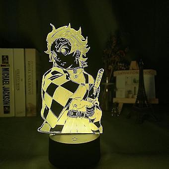 Demon Slayer Tanjirou Usb 3d Anime Night Light Atmosfære Led Bordlampe