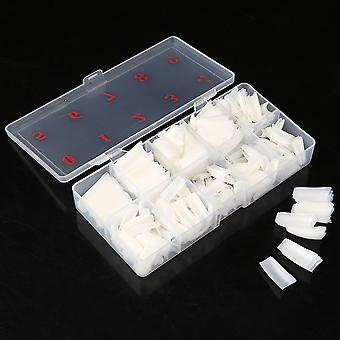 500 Pieces Full Cover French Artificial False Nail Tips For Diy In Box