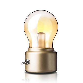 LED Pære Nat Light USB 5V Genopladelig (Golden)
