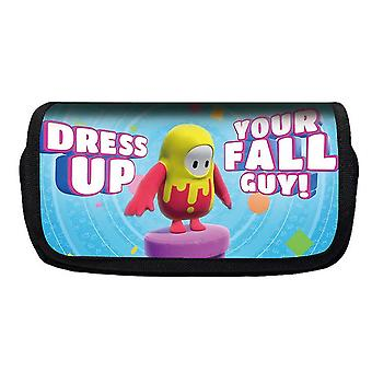 Jelly Bean Fall Guys Double Flap Pencil Case Polyester Enfant(Couleur-11)