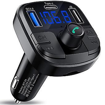 Qc3.0 Type-c Fast Charging Wireless Audio Transmitter Bluetooth 5.0