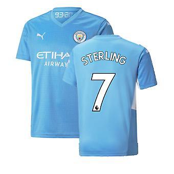 2021-2022 Man City Home Shirt (Kids) (STERLING 7)