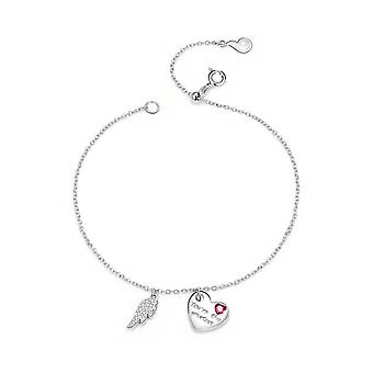 Love Letter Link Chain Bracelets for Women Silver plating Bracelets with Charms Anniversary Jewelry