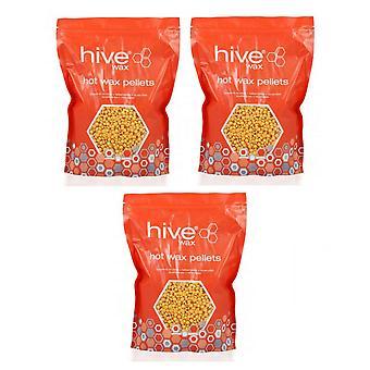 Hive Of Beauty 3 Para 2 Depilación Depilatoria Depilatoria Hot Pellets Depilación Depilación - 700g