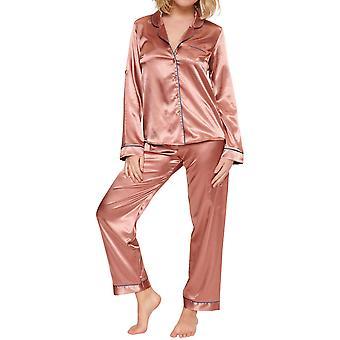 LingaDore 6616SET-292 Women's Cedar Wood Satin Pyjama Set