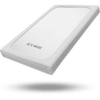 """ICY BOX external enclosure for 1 x 2, 5 """"hard drive, USB 3.0, silver/white"""